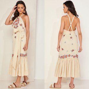 Free People Chrysanthemum Kiss Embroidered Dress